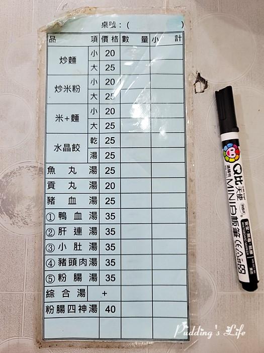 翁記水晶餃菜單