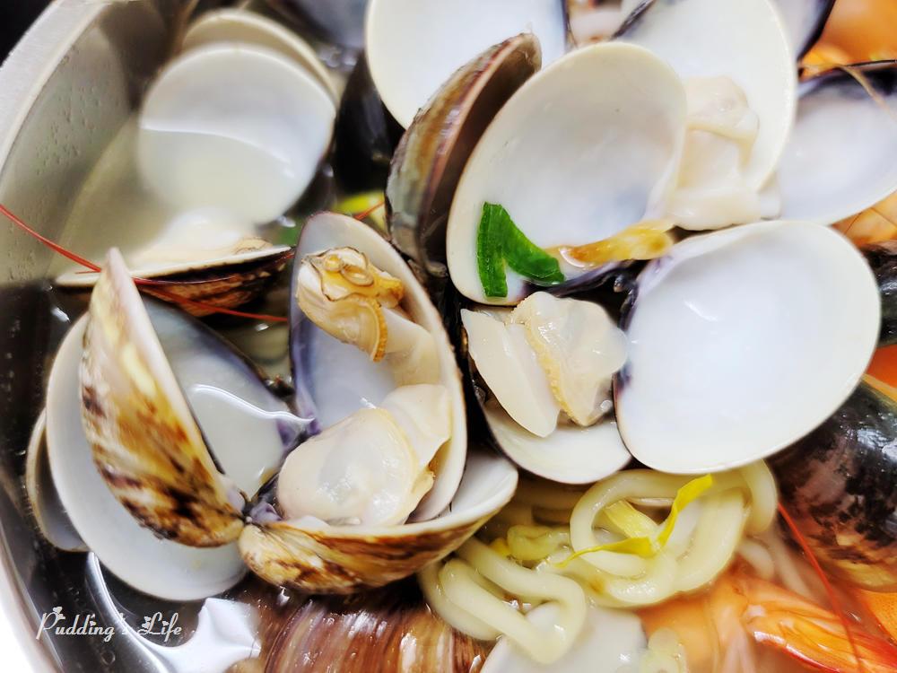 南桃吳記蛤蜊麵-蛤蜊鮮蝦麵