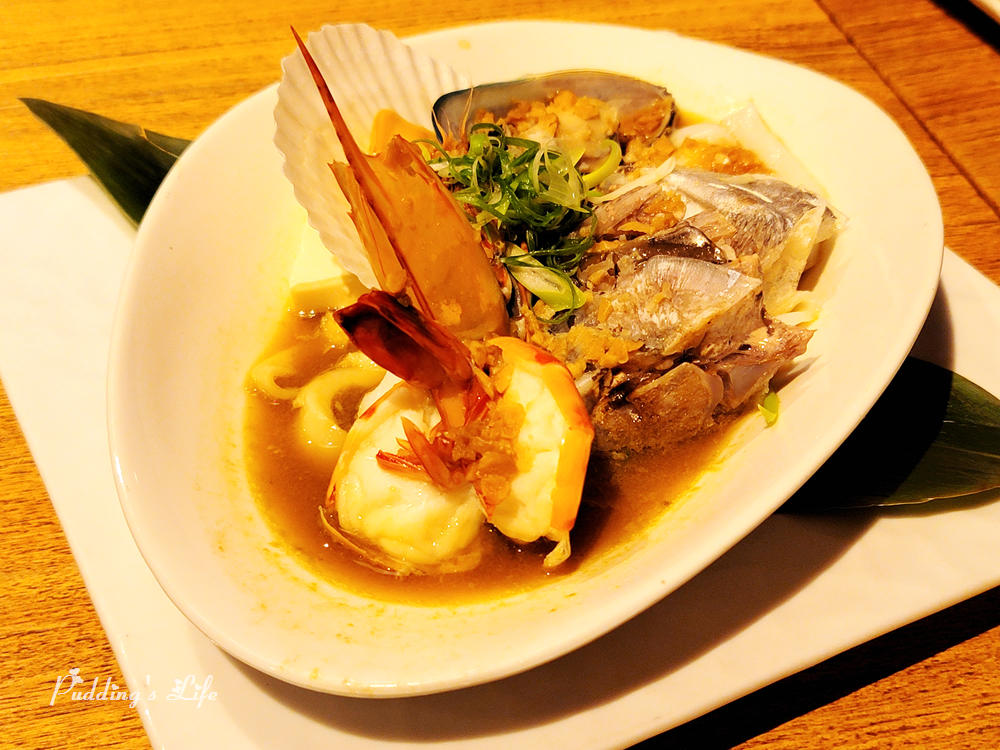八庵日本料理-海鮮蒜蒸
