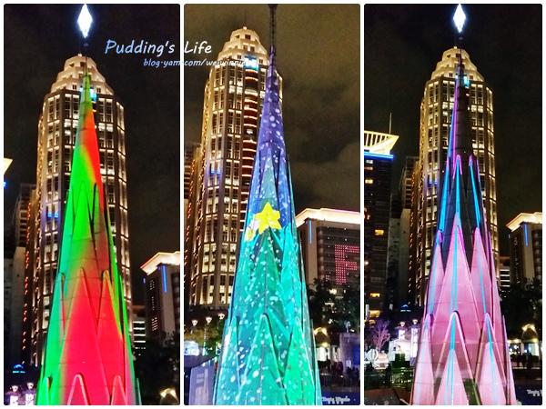 【遊記-新北》板橋火車站前市民廣場/3D立體光雕聖誕樹《2015新北耶誕城》免費遊樂設施玩到翻