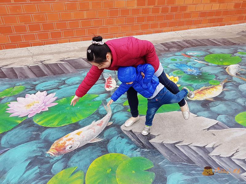 【嘉義旅遊】3D海洋世界戶外美術館《好美里彩繪村》布袋小漁村的瘋狂海底世界