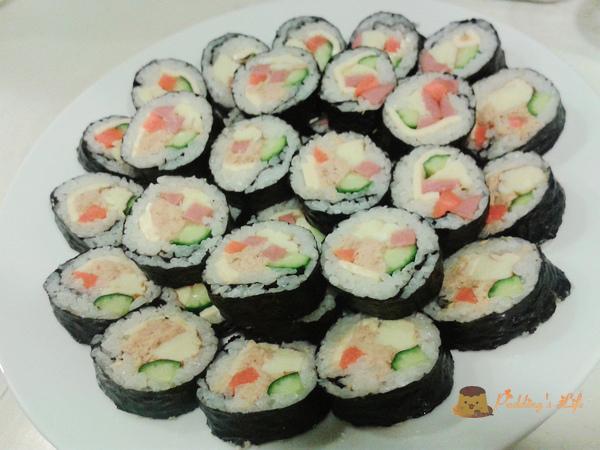 【食譜 做法】夏日清爽日式料理《海苔壽司》鮪魚/火腿/起司口味
