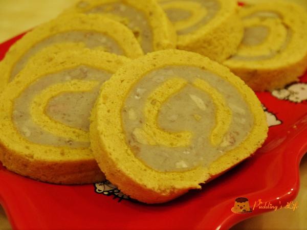【食譜 做法】芋頭甜點料理《芋泥瑞士捲》芋頭蛋糕捲